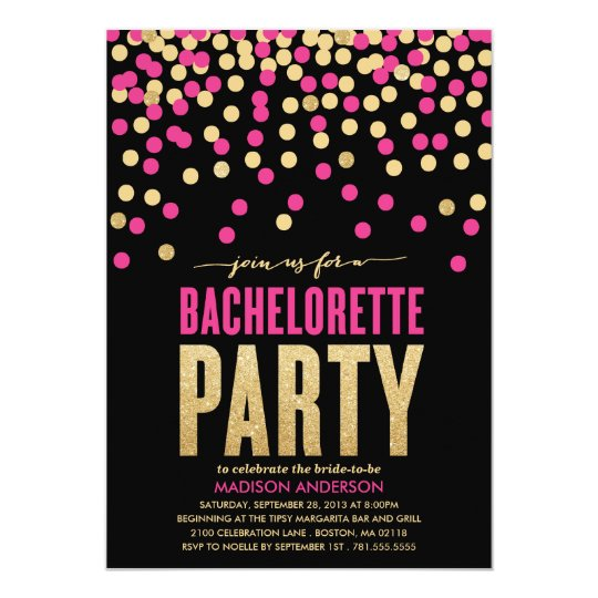 Shimmer Amp Shine Bachelorette Party Invitation Zazzle Com