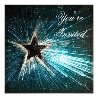Shimmer Shooting Star Event Invitation