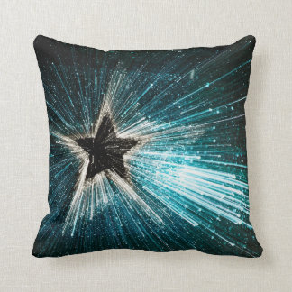 Shimmer Shooting Star Throw Pillow