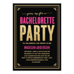 SHIMMER & SPARKLE | BACHELORETTE PARTY INVITATION