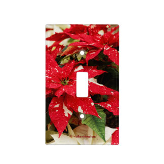 Shimmer Surprise Poinsettias Light Switch Cover