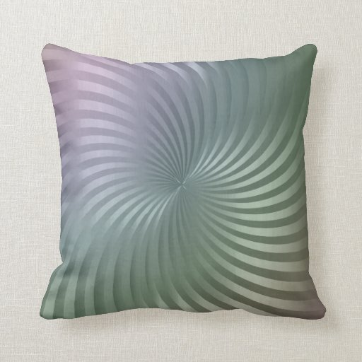 Shimmer Twirl Design Muted Tones Throw Pillow