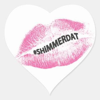 """#ShimmerDat"" Collection Heart Sticker"