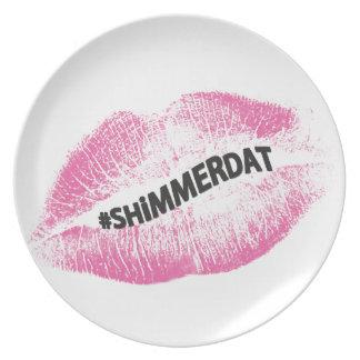 """#ShimmerDat"" Collection Melamine Plate"