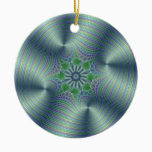 Shimmerine - Fractal Art Ceramic Ornament