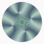 Shimmerine - Fractal Art Classic Round Sticker
