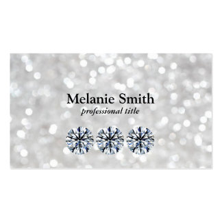 Shimmering 2   Diamonds Business Card