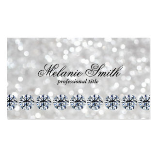 Shimmering 3   Diamonds Business Card
