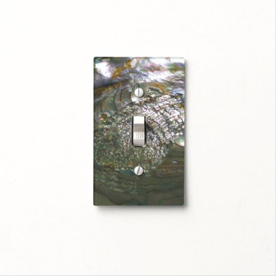 Shimmering Abalone Seashell Beautiful Nature Light Switch Cover