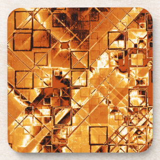 Shimmering and gleaming,golden drink coasters