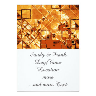 shimmering and gleaming,golden 5x7 paper invitation card