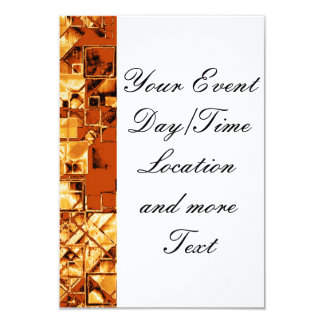 shimmering and gleaming,golden 3.5x5 paper invitation card