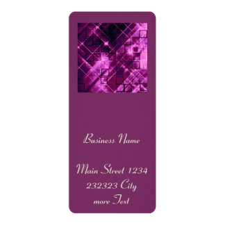 shimmering and gleaming,pink 4x9.25 paper invitation card