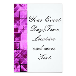 shimmering and gleaming,pink 3.5x5 paper invitation card