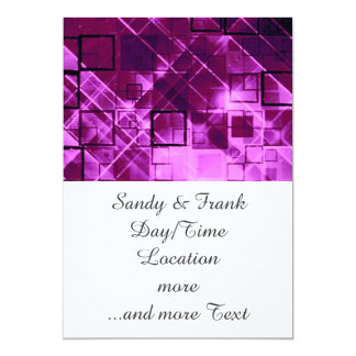 shimmering and gleaming,pink 5x7 paper invitation card