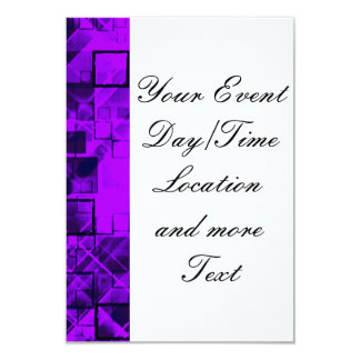 shimmering and gleaming purple 3.5x5 paper invitation card