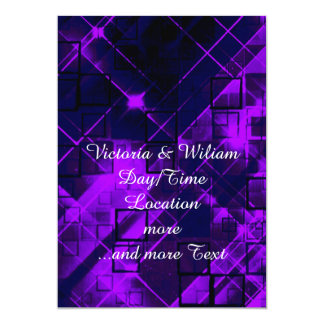 shimmering and gleaming purple 5x7 paper invitation card