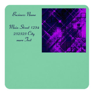 shimmering and gleaming purple 5.25x5.25 square paper invitation card