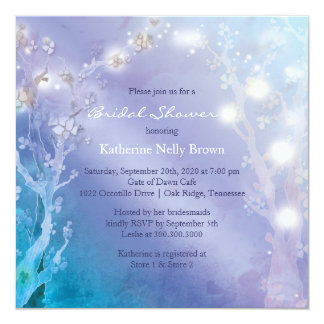 Shimmering Blues Unique Bridal Shower Card