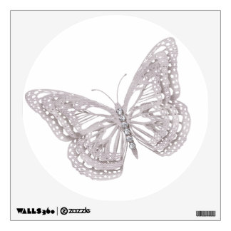shimmering butterfly decal