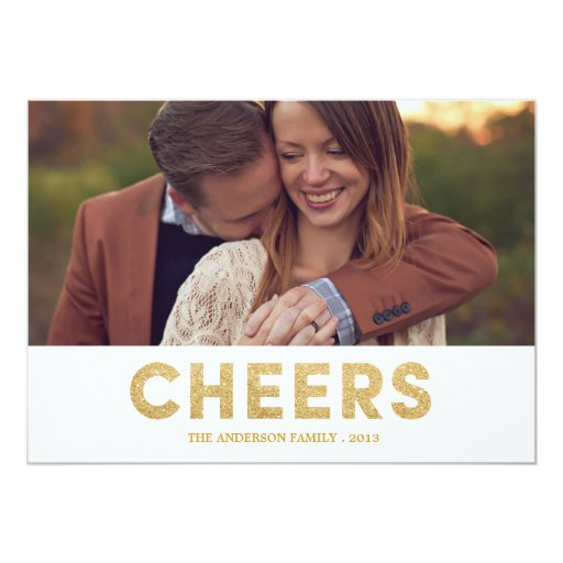 SHIMMERING CHEERS | HOLIDAY PHOTO CARD