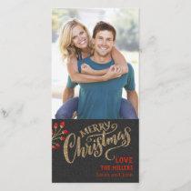 Shimmering Christmas Thin Photo Card