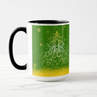Shimmering Christmas Tree Design Combo Mug