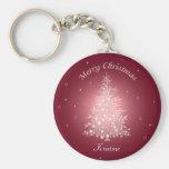 Shimmering Christmas Tree Keychain