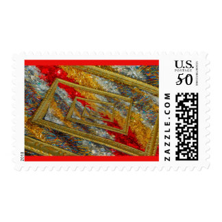 shimmering christmas wires on stamp
