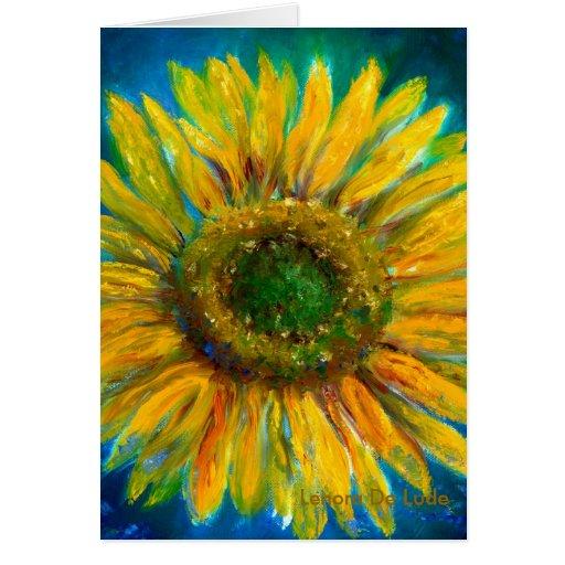 Shimmering Fine Art Sunflower Card