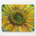 Shimmering Fine Art Sunflower Mouse Pad