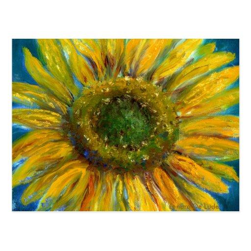 Shimmering Fine Art Sunflower Postcard