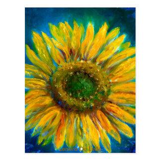 Shimmering Fine Art Sunflower Postcards