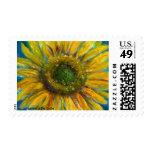 Shimmering Fine Art Sunflower Stamp