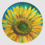 Shimmering Fine Art Sunflower Stickers