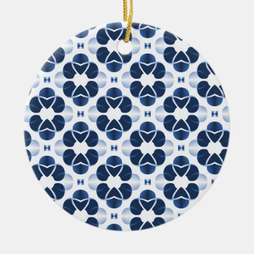 Shimmering Glam Christmas Ornament, Dark Blue