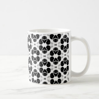 Shimmering Glam Mug, Black and White Coffee Mug