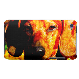 Shimmering Glowing Dachshund Face Closeup Barely There iPod Case