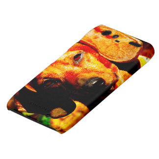 Shimmering Glowing Dachshund Face Closeup Droid RAZR Cases