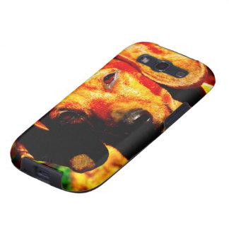 Shimmering Glowing Dachshund Face Closeup Galaxy S3 Covers