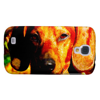 Shimmering Glowing Dachshund Face Closeup HTC Vivid Covers