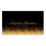 Shimmering Gold Beauty Expert Damask Black Card Double-Sided Standard Business Cards (Pack Of 100)