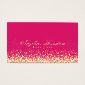 Shimmering Gold Beauty Expert Damask Pink Card