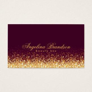 Shimmering Gold Beauty Expert Dark Burgundy Card