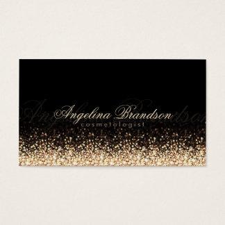 Shimmering Gold Cosmetologist Damask Black Card