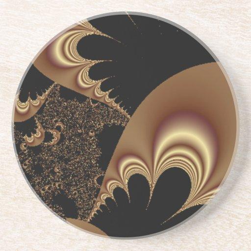 Shimmering Gold Parachutes Abstract Coaster