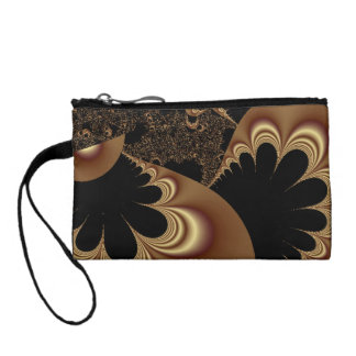 Shimmering Gold Parachutes Abstract Coin Wallet