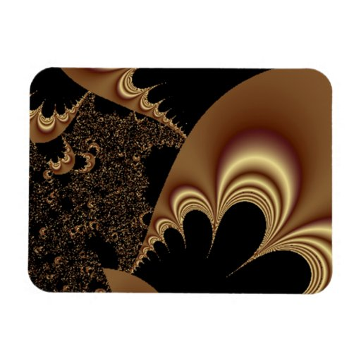 Shimmering Gold Parachutes Abstract Magnet