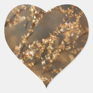 Shimmering Golden Prairie Grass Heart Sticker