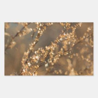 Shimmering Golden Prairie Grass Rectangular Sticker